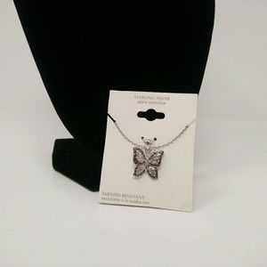 Sterling Silver Butterfly Necklace
